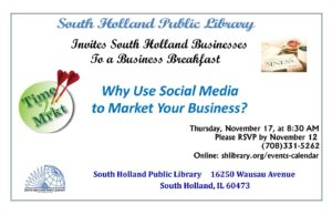 South Holland Public Library Business Breakfast