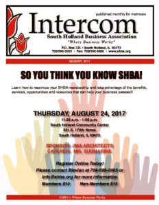 SHBA monthly newsletter the Intercom