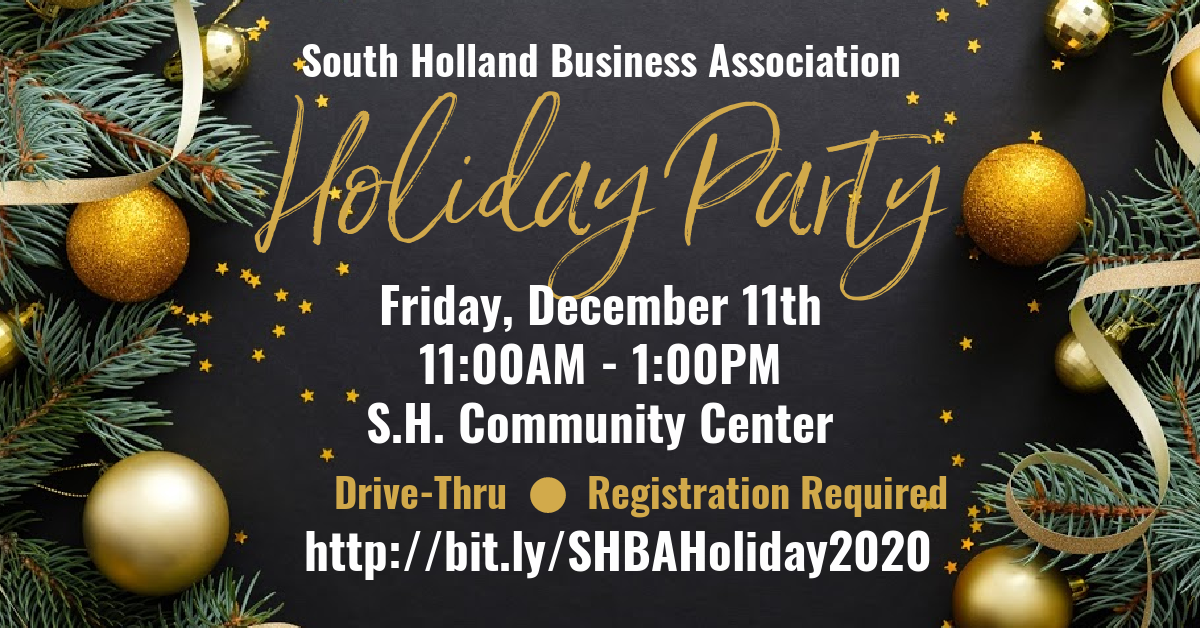 eflyer for south holland business association's holiday party december 2020